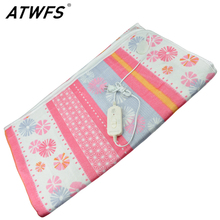 ATWFS 150*120cm Electric Blanket Electric Heated Blanket Double Bed Electric Carpet Body Warmer Heating Pad Warmer Thermostatic(China)