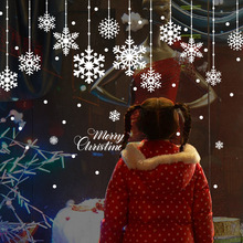 Buy Christmas snowflakes Decorative wall stickers kids rooms windows Decorative Closet decals home decor Murals for $1.35 in AliExpress store