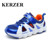 KERZER 2017 New Children Shoes Boys Girls Sport Sneakers Summer Kids Trainers Boys Walking Shoes Breathable Kd Shoes Cheap