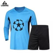2017 New Style Men Full Goalkeeper Jerseys Kits Football Goalie Training Suit Soccer Goal Keeper Protective Tops With Shorts Set
