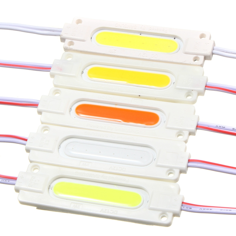 1PC COB LED Module Injection 12V DC Window Store Front Lighting LED Strip Light Waterproof 2W(China (Mainland))