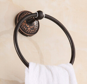 New arrival Euro style wall mounted antique black towel ring bathroom accessories bath towel holder bath hardware<br><br>Aliexpress