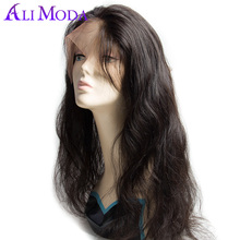 360 Full Lace Frontal Closure Body Wave Pre Plucked With Baby hair Natural Hairline Knots Bleached Ali Moda Human Remy Hair