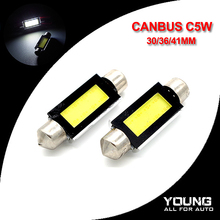 10Pcs C5W Canbus COB LED Dome Light  Car Interior Lamp 31/36/39/41mm White Auto Interior Decorative Lights For BMW car styling