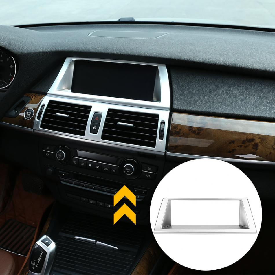 For BMW X6 E71 2009-2014 Steel Interior Dashboard Console Speaker Cover Trim 1pc
