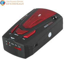 V7 Car Radar Detector 360 Degree Detection English & Russian Voice Alert 16 Band Auto Anti Radar Detector for Car Speed Limited(China)