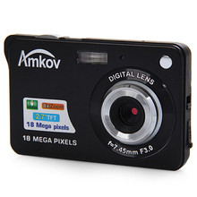 Amkov AMK-CDC3 Professional Cameras 2.7'' TFT 8mp Aluminum+plastic Support Multi-language Mini Photo Camera HD Camera with Cable