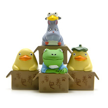 Spirited Away Elves Action toys Frog Duck Pig Figures Models Toys Decoration Kids Gifts Collectible PVC figure