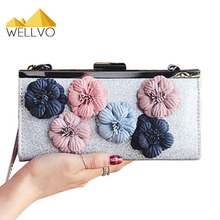 Women Floral Hand Bag Glitter Crossbody Bag Ladies Flowers Day Clutch Dress Handbag Messenger Bags Vintage Bolsos Mujer XA2022C