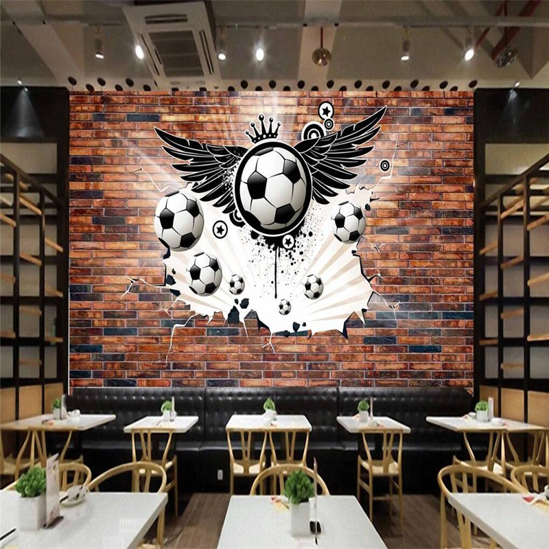 3d custom wallpaper home decoration wallpaper 3d personality football picture living room 3d wall paper background photo mural <br><br>Aliexpress