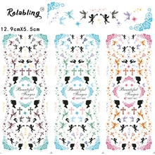 2017 New Arrival Romantic Atmosphere Series Fashion Water Nail Decals Decoration Nails Manicure Products Tape Nail(China)