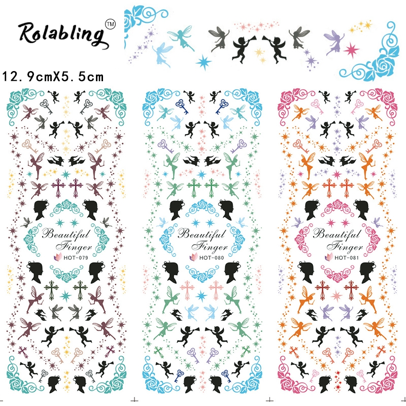 2017 New Arrival Romantic Atmosphere Series Fashion Water Nail Decals Decoration Nails Manicure Products Tape Nail(China (Mainland))