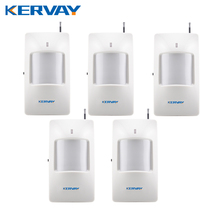 5pcs/lot Wireless Motion PIR Infrared Sensor Detector For My 99 Zones PSTN or GSM Secure Alarm System 433mhz sensor(China)