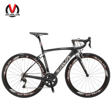 SAVA 700C Road Bike T800 Carbon Fiber Frame / 50MM Wheelset / Fork/ Handlebar/ Headset/ Seatpost with SHIMANO 22 Speed 105 5800