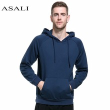 ASALI Hoodie Men Cotton Solid Color Hooded Europe Size Hoodies Mens Warm Clothing Autumn Winter hip-hop Pullover Sweatshirts Men(China)