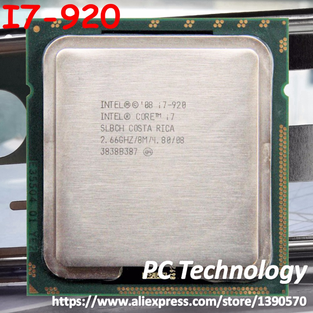 Original Intel Core i7 920 processor SLBCH/SLBEJ i7-920 CPU 8M Cache 2.66GHz 4-cores LGA1366 free shipping ship out within 1 day