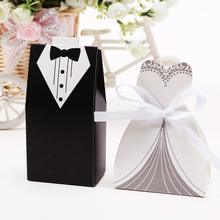 Hot sale 250pair wedding favor candy box Bride Groom. Wedding invitation gifts,party decoration supply.decoracion boda sweet box
