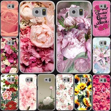 peony sunflowe Flower rose red Hard Cases for Samsung Galaxy S3 S4 S5 & mini s6 s7 s8 edge plus grand prime A3 A5 Note 2 3 4 5