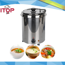 Water-bath Soup Warmer 5.7L 10L Stainless Steel Pot 110V 220V Commercial Bain Marie Cafeteria Buffet Canteen Restaurant(China)