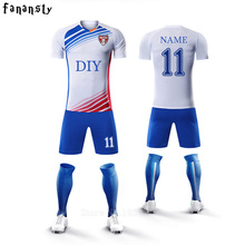 College soccer jerseys men custom football uniforms youth adult training cheap soccer sets kit men survetement football 2017(China)