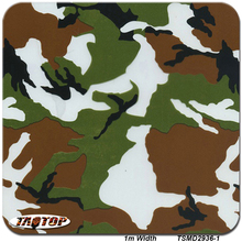 TSAUTOP 1m*10m TSD2936-1 Camo Green Brown White 3D Digital Camouflage Pattern Water Transfer Printing Film Hydrographic Films