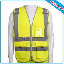 72 Pcs Polyester Material Visibility Security Safety Vest Jacket Reflective Strips Orange Yellow Work Wear Uniforms Clothing(China)