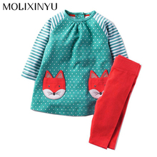 MOLIXINYU Girl Clothes Set Children Clothes 2017 2Pcs/lot Toddler Girl Clothes Set Infantis Menino Suits For Girls Children Set
