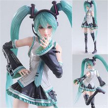 "Action 25cm Anime SQUARE ENIX PlayArts KAI Hatsune Miku Figure PVC 10"" Collection Hobby Movable Model Doll Best Gift Cosplay Toy"