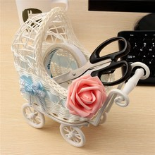 Wicker Storage Baskets 25x11x23cm Baby Toy Stroller Universal Pram Shower Party Gift Present Organizer Decor Beautiful Design(China)