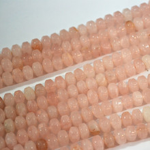Wholesale Hot Sale Fashion Natural Stone Pink Quartz Abacus Flat Beads 6*9mm For Necklace Bracelet Jewelry Making Free Shipping(China)