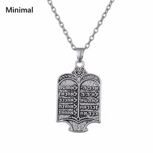 Minimal New Antique Sliver Color Viking Tunes Shield Pendant Necklace Link Chain Supernatural Talisman Man Jewelry Acessory