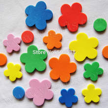 100PCS/LOT.Foam flower stickers,Kids toy.Scrapbooking kit.Early educational DIY.Cheap.kindergarten craft(China)