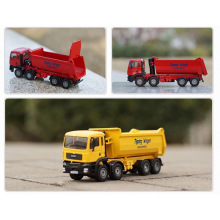 Plastic Dump Truck Model 1/50 Scale Alloy Engineering Truck Alloy Special Car Toy Diecast Metal Model Toys With Gift Box Package