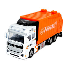 BOHS 1:32 Alloy Sanitation Engineering Vehicle Simulation Garbage Truck Model Gift for Children Toys,Pullback