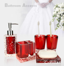 5 Pieces/Set Bathroom Continental Resin Wash Kit Bathroom Toothbrush Holder Wedding Gifts
