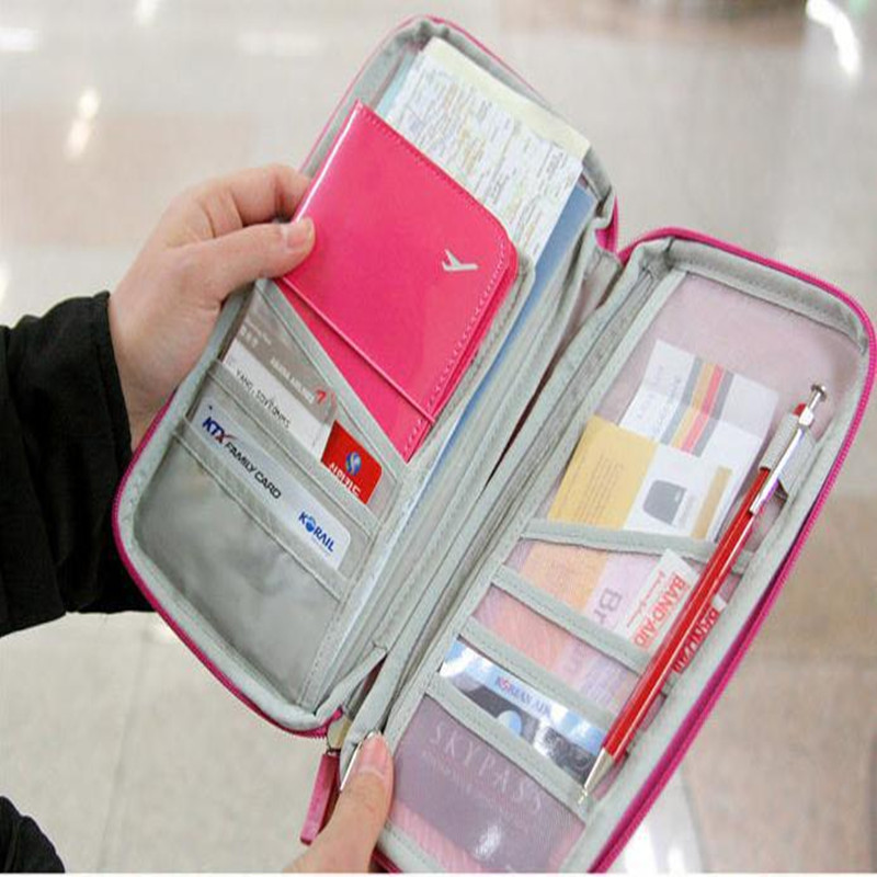 Credit ID Visiting Card Holder Travel Passport Cover Cash Organizer Bag Purse Women Wallet Cover On The Passport Travel Holder<br><br>Aliexpress