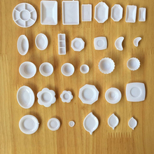 33pcs/Set Kitchen Mini Tableware Miniatures Cup Plate Dish Decor Toys for Kids Girls Doll Accessories