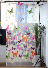 1 PCS Butterfly Print Sheer Window Panel Curtains Room Divider New arrive best discount