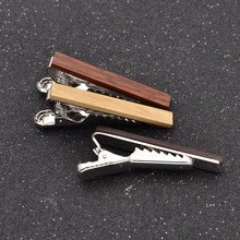 fashion lychee New Men Tie Clasp Vintage Wood Necktie Pin Classic Retro Clips Bar Gift 3 Colors(China)