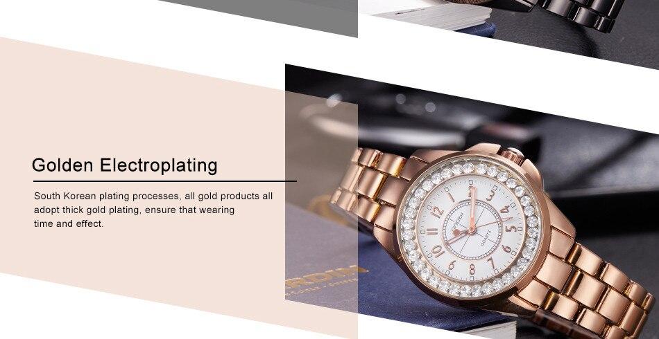 2017 SINOBI Fashion Women Diamonds Wrist Watches Imitation Ceramics Watchband Top Luxury Brand Dress Ladies Geneva Quartz Clock