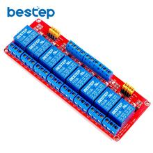 1PCS 8 Channel 24V Relay Module 8-Channel Module High and Low Trigger Red Board(China)