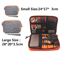Waterproof Double Layer Cable Storage Bag Electronic Organizer Gadget Travel Bag USB Earphone Case Digital Organizador PC876982
