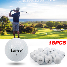 Brand 18 Pcs Outdoor Sport Golf Game Training Match Competition Rubber Four Layers High Grade Golf Ball White Free shipping!
