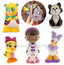 Finding Dory Doc McStuffins Minnie Cat Figaro Bird Cuckoo Loca Daisy Duck Baby Bath Toy Set of 6 Squeeze Figure Toys Cute Gifts