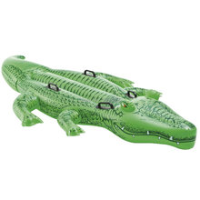 "Entertainment Water Sports Safety Products Life Raft Inflatable Giant Gator Ride-On,66"" x 34"",Swimming Pool Toy Gift Kid Ages 3+(China)"