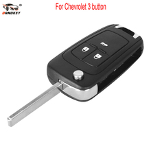 DANDKEY Flip Folding Remote Key Shell for Chevrolet Cruze Remote Key Case Fob Uncut HU100 Blade For Chevrolet 2/3/4/5 Buttons(China)