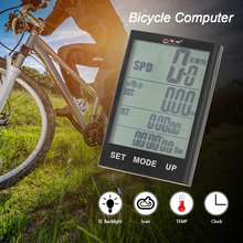 BOGEER Wireless Bike Computer Bicycle Speedometer Odometer with LCD Backlight Water Resistant for Cycling Riding Multi Function(China)