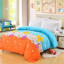 1pc 100% Polyester Duvet Cover Plant & Plaid Reactive Printing Comforter Cover Twin Full Queen King customizable(China)