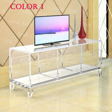 Acrylic TV Stand Table,Luite Cabinet With Removable Trays,Perspex Living Room Side Wall Corner Tables(China)