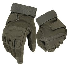 Black Hawk Tactical Gloves Military Armed Army Paintball Airsoft Combat Shooting Anti-Skid Tactics Knuckle Full Finger Gloves(China)